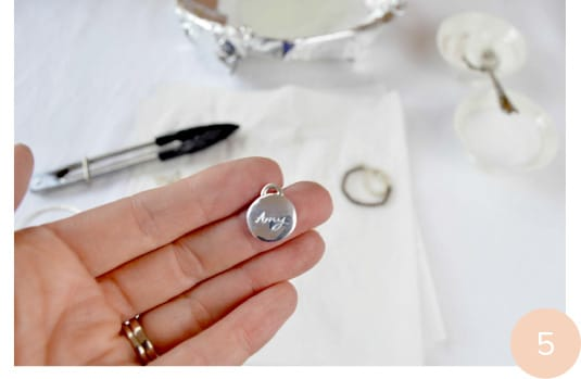 Silver jewellery cleaning step 5